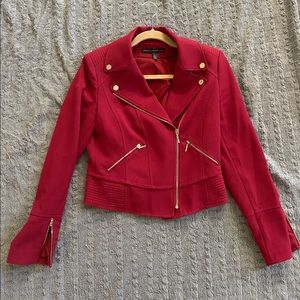 White House Black Market Magenta Moto Jacket